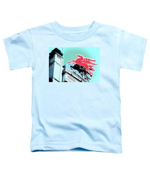 Neon Pegasus Atop Magnolia Building In Dallas Texas Toddler T-Shirt