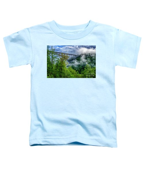 New River Gorge Bridge Morning  Toddler T-Shirt