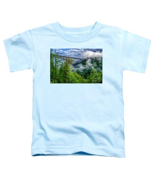 New River Gorge Bridge Morning  Toddler T-Shirt