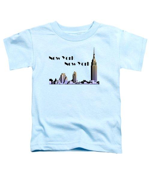 New York New York Skyline Retro 1930s Style Toddler T-Shirt