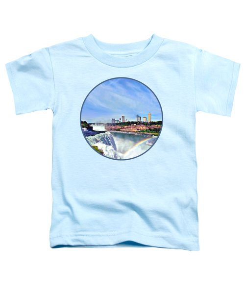 Niagara Falls Ny - Under The Rainbow Toddler T-Shirt