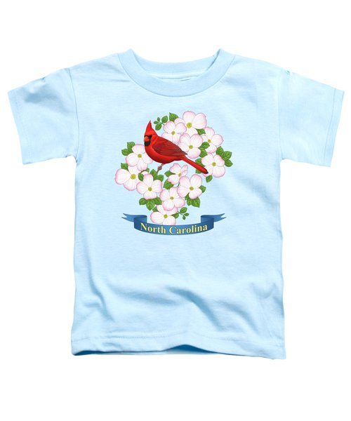 North Carolina State Bird And Flower Toddler T-Shirt