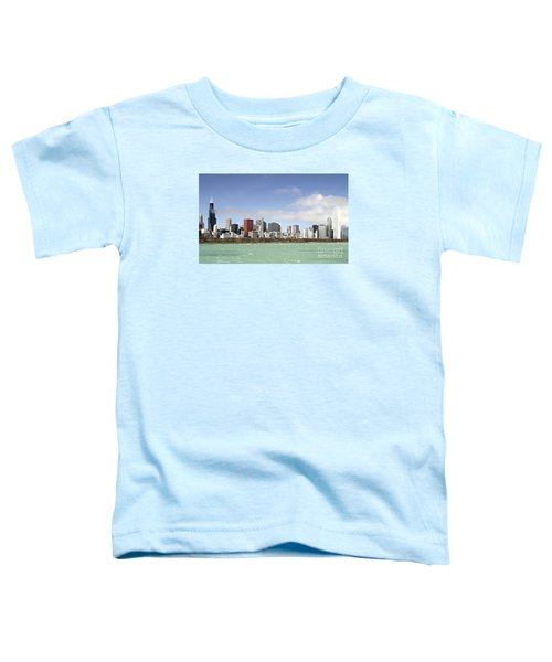 Off The Shore Of Chicago Toddler T-Shirt by Ricky L Jones