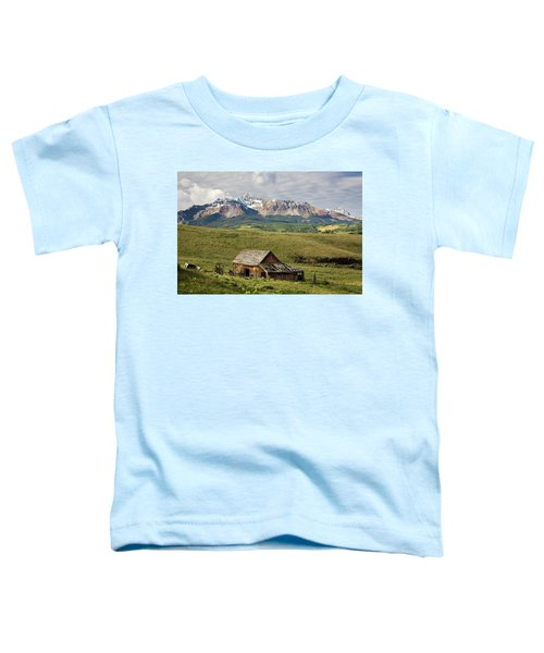 Old Barn And Wilson Peak Horizontal Toddler T-Shirt