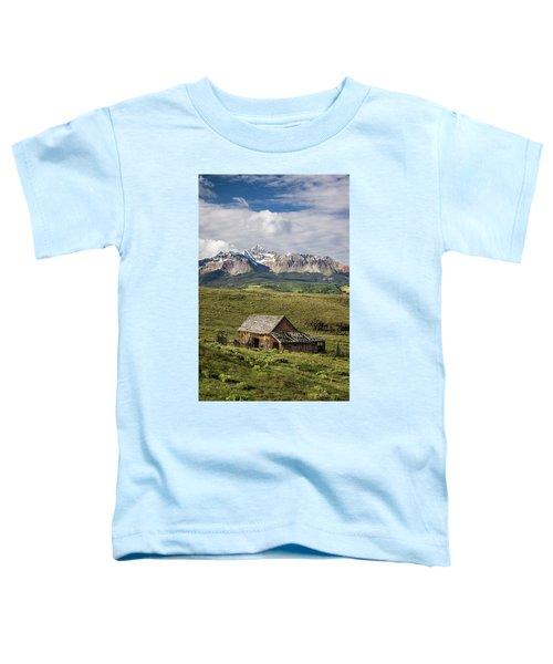 Old Barn And Wilson Peak Vertical Toddler T-Shirt