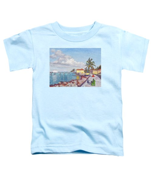 Old Yellow Gas Station By The Waterfront - Cooper's Town Toddler T-Shirt