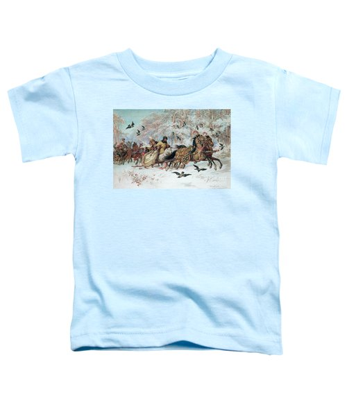 Olenka And Kmicic In A Sleigh, 1885 Toddler T-Shirt