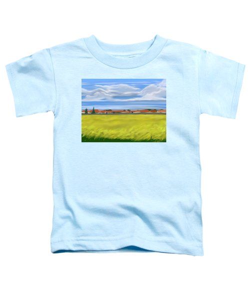 Toddler T-Shirt featuring the digital art On A Paris Train by Gerry Morgan