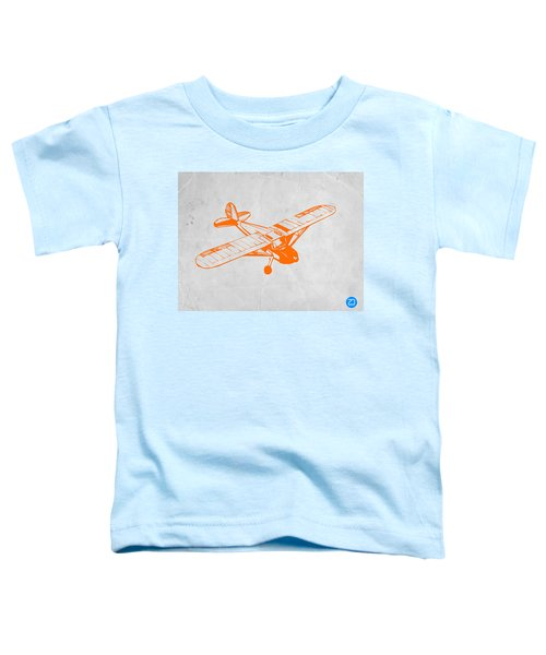 Orange Plane 2 Toddler T-Shirt by Naxart Studio