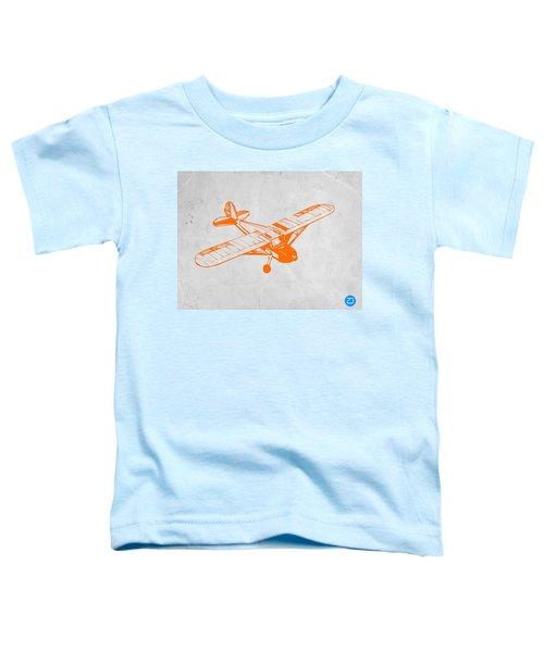 Orange Plane 2 Toddler T-Shirt by Naxart Studio