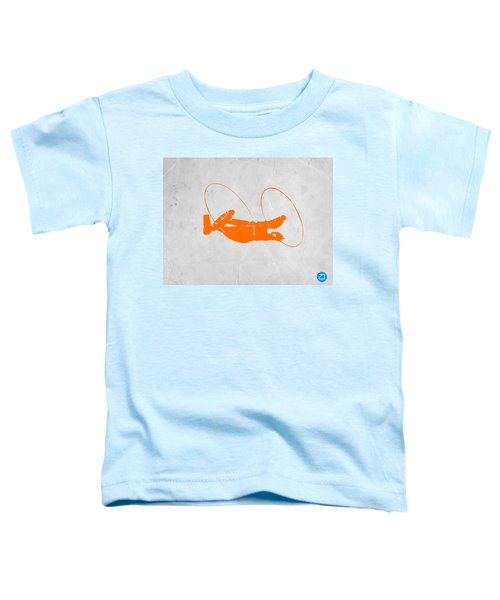 Orange Plane Toddler T-Shirt by Naxart Studio