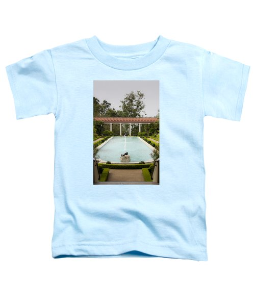 Outer Peristyle Pool And Fountain Getty Villa Toddler T-Shirt