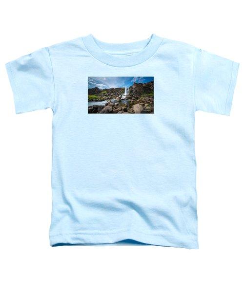 Oxararfoss Waterfall  Toddler T-Shirt