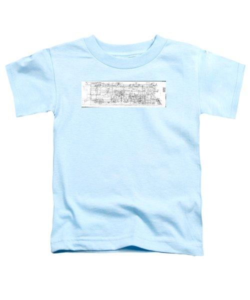 Pacific Locomotive Diagram Toddler T-Shirt