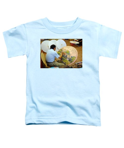 Painting Chinese Oil-paper Umbrellas Toddler T-Shirt