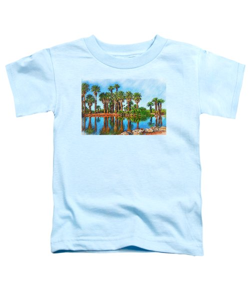 Palm Reflections Sketched Toddler T-Shirt