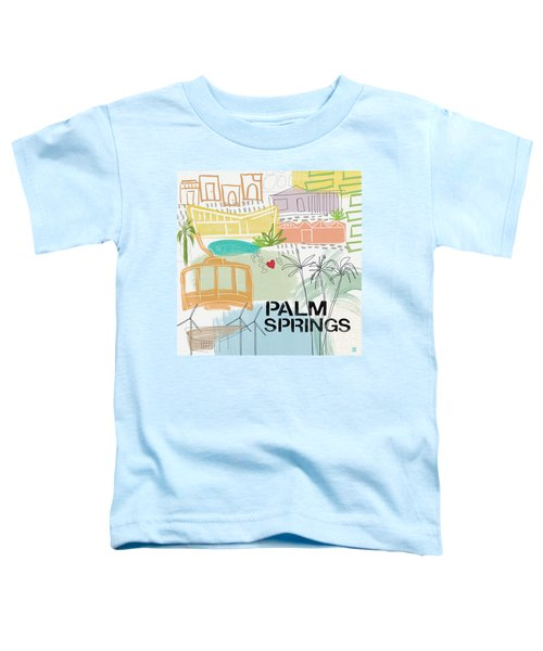 Palm Springs Cityscape- Art By Linda Woods Toddler T-Shirt