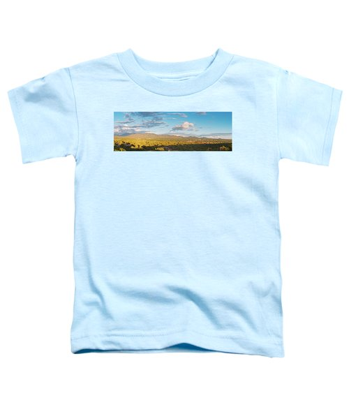 Panorama Of Santa Fe And Sangre De Cristo Mountains - New Mexico Land Of Enchantment Toddler T-Shirt
