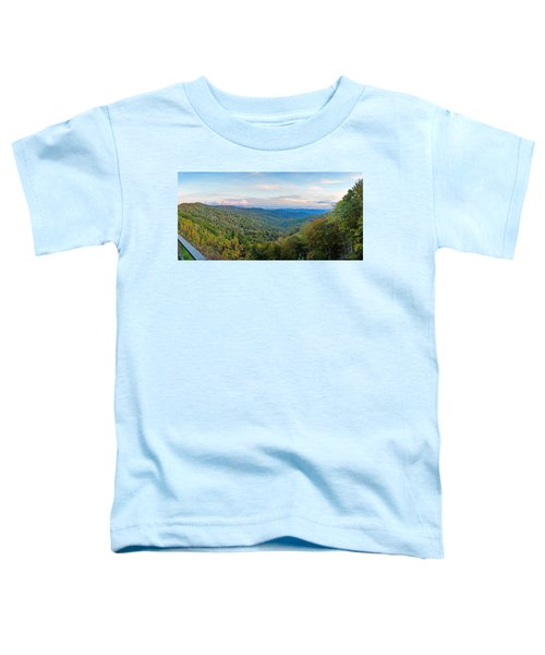 Panoramic October Views Of Smokey Mountain National Park Toddler T-Shirt