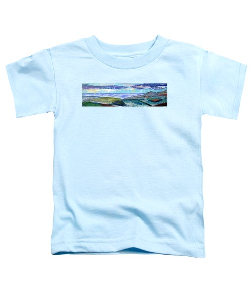 Panoramic View From Exeter Of Devon Hills Toddler T-Shirt