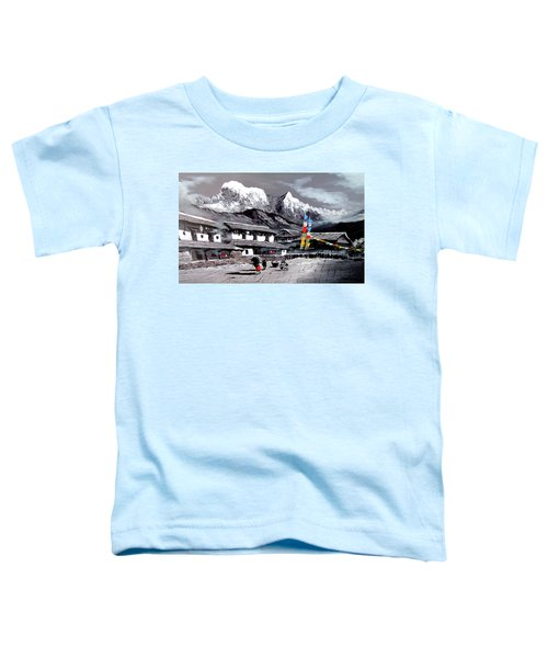 Panoramic View Of Everest Base Camp Toddler T-Shirt