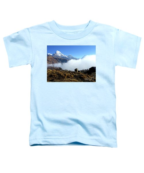 Panoramic View Of Everest Mountain Nepal Toddler T-Shirt