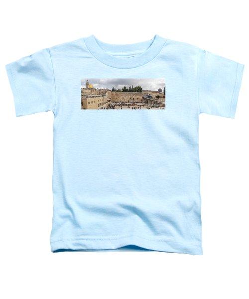 Panoramic View Of The Wailing Wall In The Old City Of Jerusalem Toddler T-Shirt
