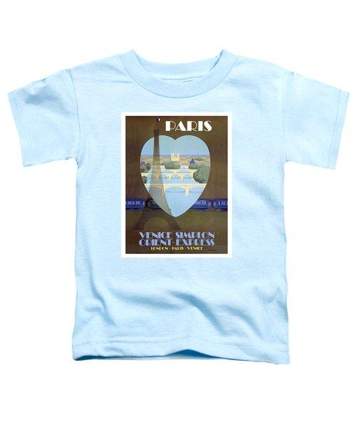 Paris Venice Railway, Orient Express Toddler T-Shirt