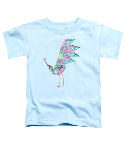 Peacock Dance A Toddler T-Shirt by Thecla Correya