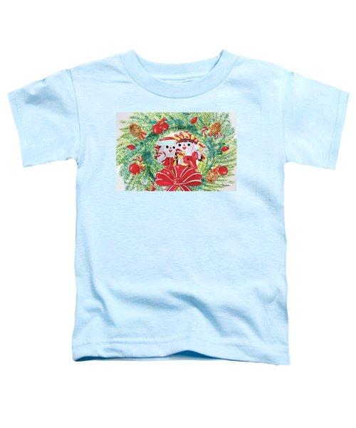 Peek-a-boo Christmas Toddler T-Shirt