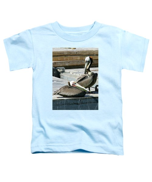 Pelican On The Dock Toddler T-Shirt