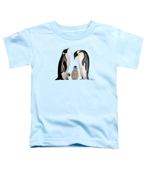 Penguin Family Watercolor Toddler T-Shirt