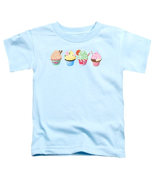 Perfectly Pretty Cupcake Parade Toddler T-Shirt