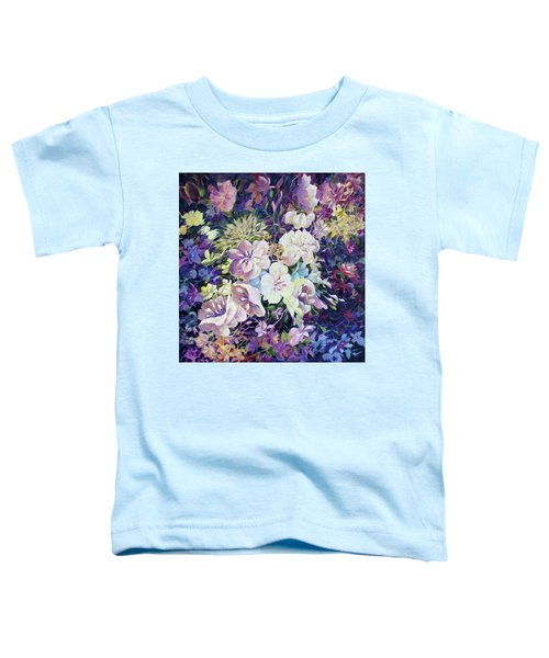 Toddler T-Shirt featuring the painting Petals by Joanne Smoley