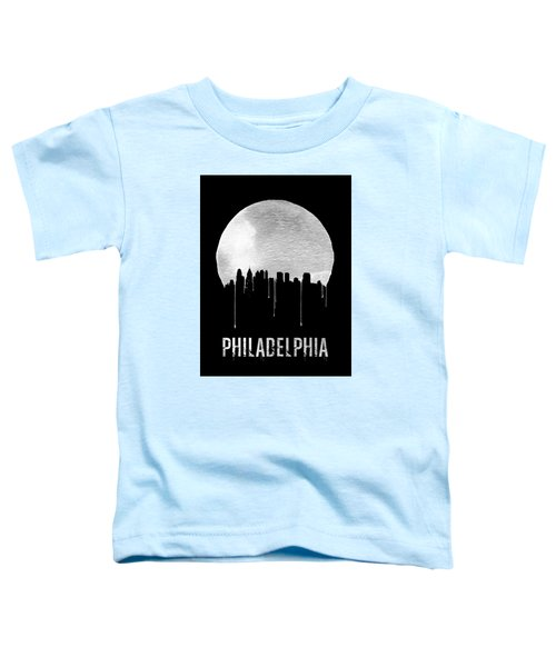 Philadelphia Skyline Black Toddler T-Shirt by Naxart Studio