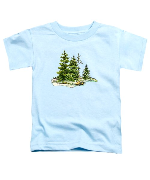 Pine Tree Watercolor Ink Image I         Toddler T-Shirt
