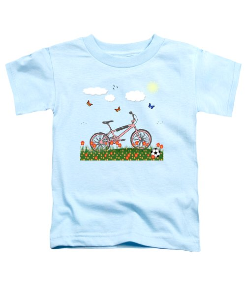 Pink Bicycle Toddler T-Shirt by Gaspar Avila
