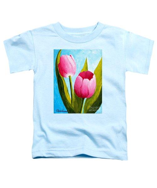 Pink Bubblegum Tulip II Toddler T-Shirt