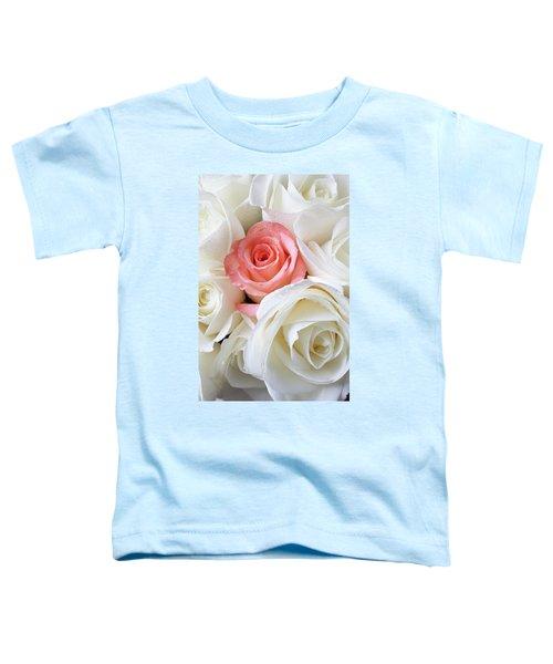 Pink Rose Among White Roses Toddler T-Shirt