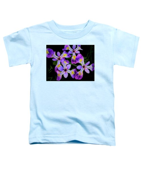 Pinwheel Purple Iris Glow Toddler T-Shirt