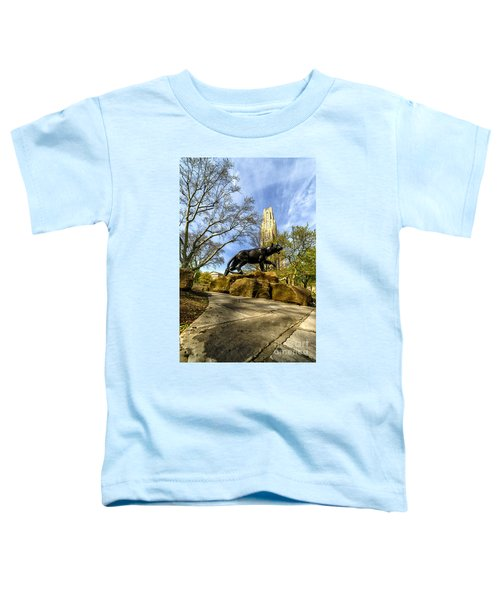 Pitt Panther Cathedral Of Learning Toddler T-Shirt