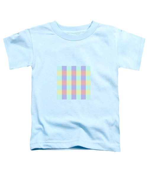 Plaid Blue Soft Yellow Rose Blush Lavender Cyan Tetradic Colour Blocks Toddler T-Shirt