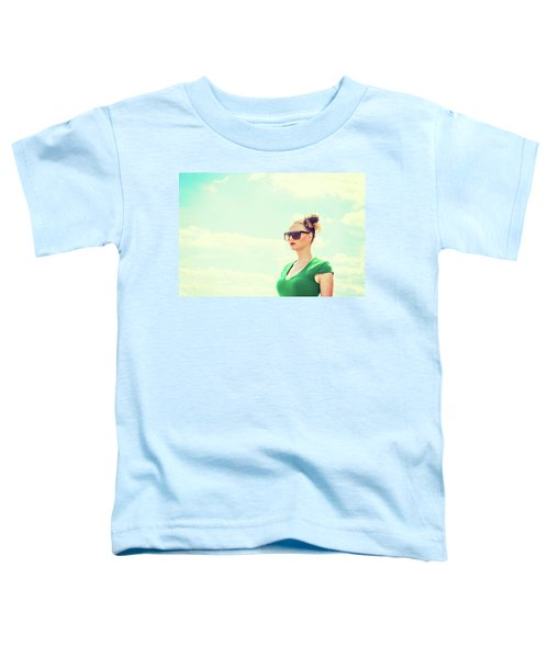 Portrait Of Young Woman Toddler T-Shirt