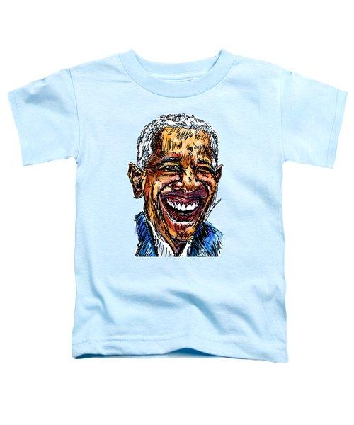 President Barack Obama Toddler T-Shirt by Robert Yaeger