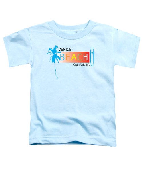 Venice Beach California T-shirts And More Toddler T-Shirt by K D Graves