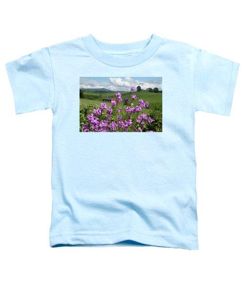 Purple Flower In Landscape Toddler T-Shirt