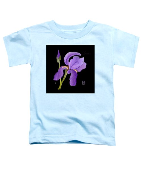 Toddler T-Shirt featuring the digital art Purple Iris by Gerry Morgan
