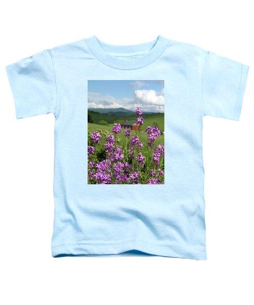 Purple Wild Flowers On Field Toddler T-Shirt
