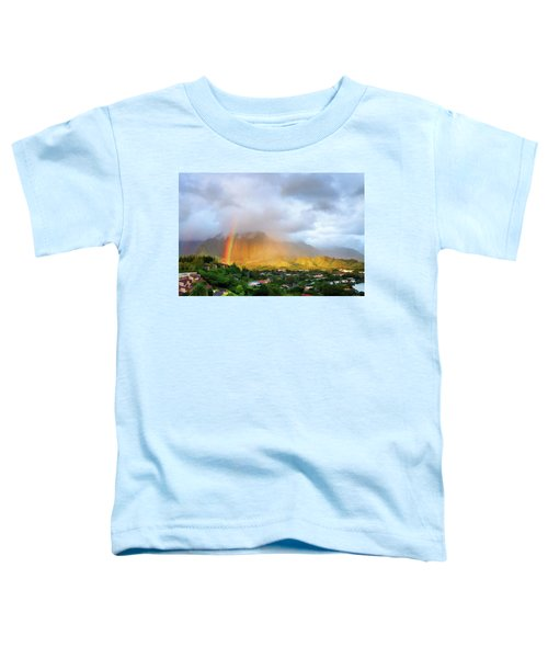 Puu Alii With Rainbow Toddler T-Shirt