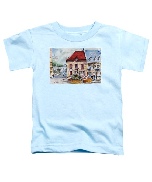Quebec City Flower Boxes Toddler T-Shirt